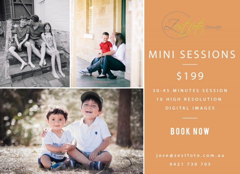 mini session special family photos sydney