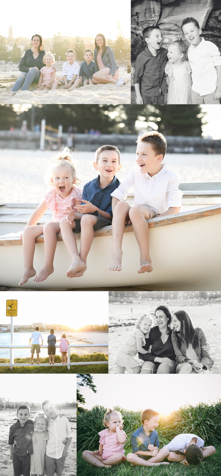 Family Portraits Sydney Coogee Beach session