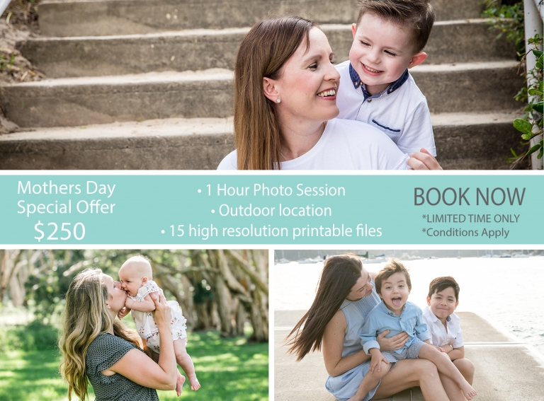 Mothers day promotion - Sydney Family Portraits