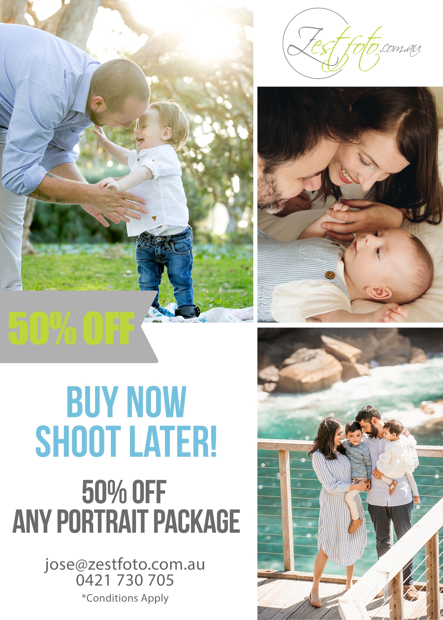 50% off any Zest Foto family portrait package