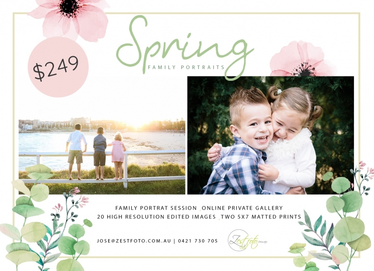 Family Portraits Spring Special Promotion is here!